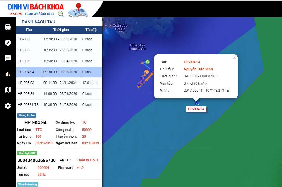Cách xác định vị trí tàu trên biển qua hệ thống phần mềm gsht